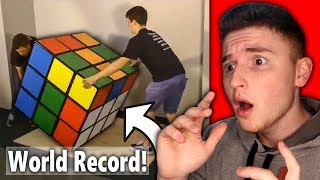 Kid can solve GIANT rubiks cube in record time..