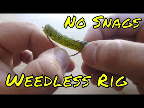 How To Texas Rig a Soft Plastic Lure ( Weedless Rig)