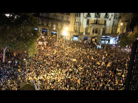 Protests held in Madrid, Barcelona in support of Catalonia referendum