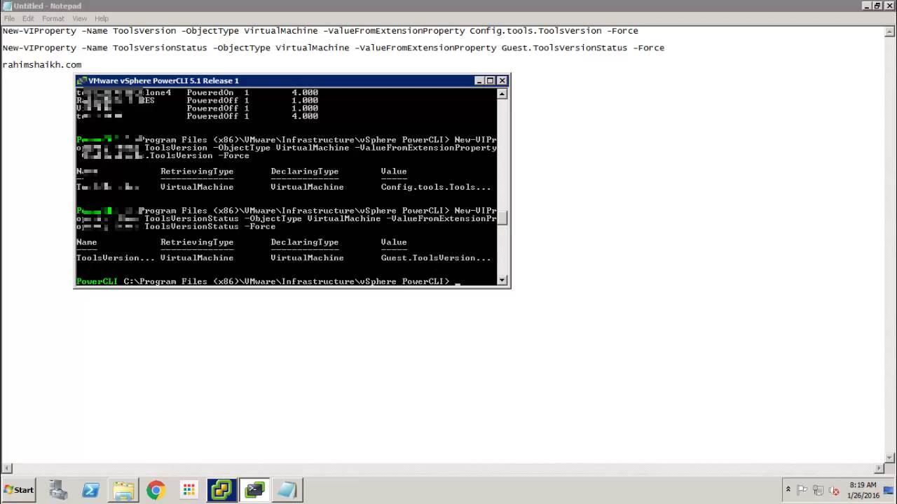 Chekcking VMware Tools Status