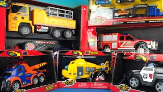 Fast Lane Action Wheels Truck Toy Collection - Fire Truck Tow Truck Police Car