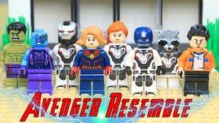 Lego AVENGERS 4 EndGame Captain Marvel saves TONY STARK in Hindi Episode 2