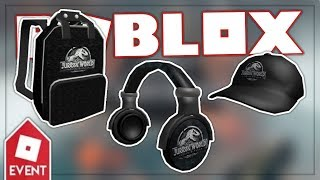 [EVENT] HOW TO GET THE JURASSIC WORLD HEADPHONES, BACKPACK & CAP | ROBLOX JW CREATOR CHALLENGE