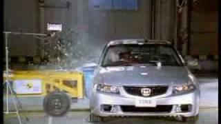 Краш-тест Honda Accord 2003 от EuroNCAP. Боковой удар
