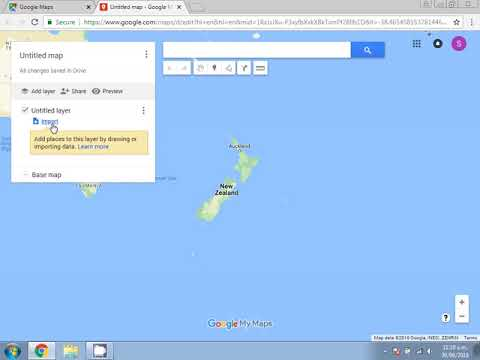 How to upload a KML file to Google Maps