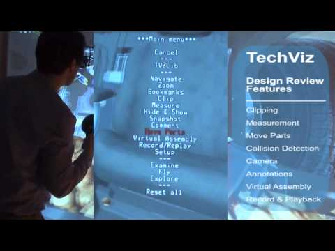 Techviz Enables Stereo 3D Visualization for Virtual Design Reviews & Virtual Prototyping