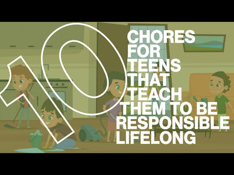 Chores List for Teenagers and teenagers