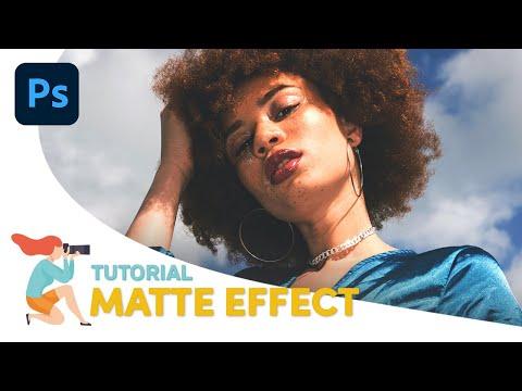 Come creare l'effetto colore opaco con Photoshop [ Matte Effect ]