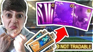 USING ALL MY DECRYPTORS *GONE WRONG*   CRATE OPENING   Rocket League