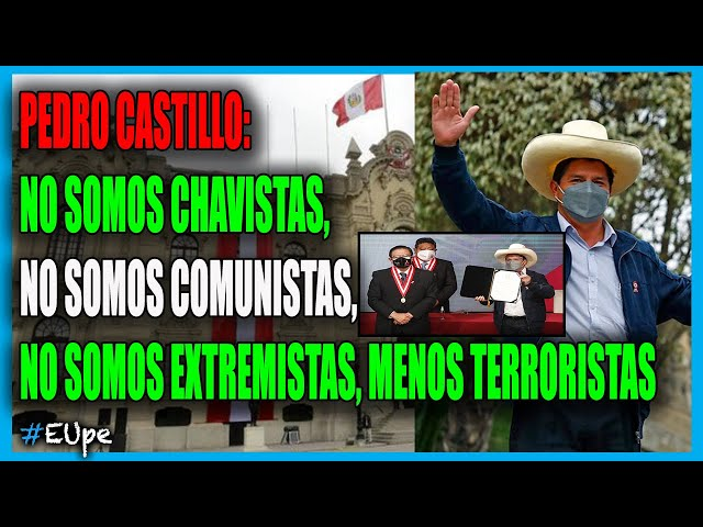 """PEDRO CASTILLO Recibió las CREDENCIALES 🇵🇪 como PRESIDENTE ELECTO: """"NO VAMOS A DEFRAUDAR AL PERÚ"""""""