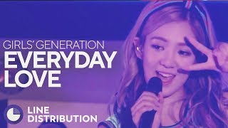 GIRLS' GENERATION - Everyday Love (Line Distribution) - Stafaband