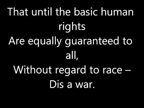 Bob Marley - War - lyrics.wmv