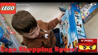 LEGO shopping spree with Chase