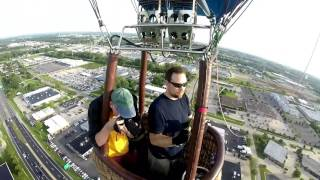 Hot Air Balloon Racer Practice over Cedar Rapids