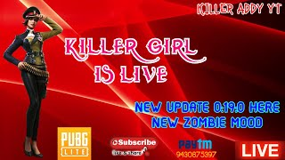 ❤️KÍLLÈR GIRL ON LIVE ||🔴NEW UPDATE 0:19:0 ZOMBIE MOOD~GIRL GAMER~SUPPORT US PAYTM NO~~9430875397~
