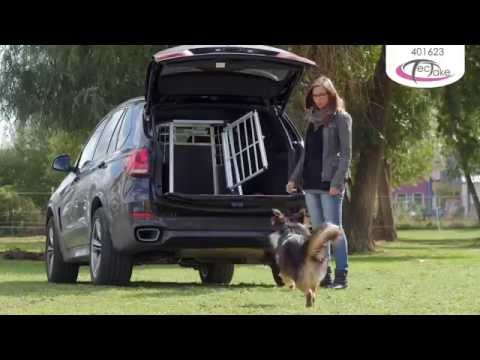 cage de transport chien aluminium pour transport en voiture single paroi arri re inclin e youtube. Black Bedroom Furniture Sets. Home Design Ideas