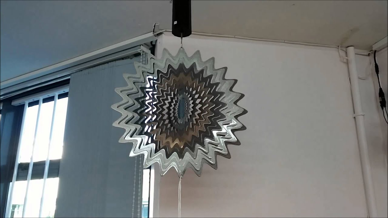 Laser Cut Stainless Steel Wind Spinners - YouTube