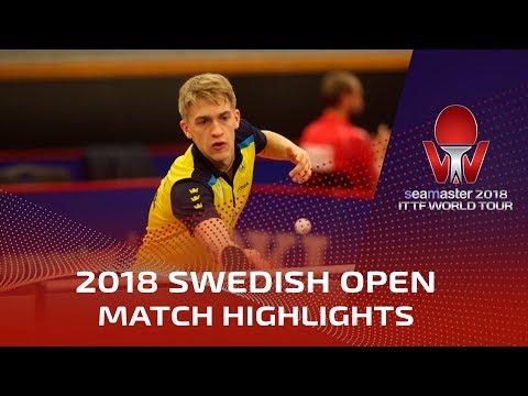 Truls Moregard vs Anton Kallberg I 2018 ITTF Swedish Open Highlights (Pre)