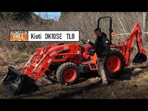 Kioti DK4710SE HST Tractor w/ Loader & KB2485 Backhoe - DK10SE Series