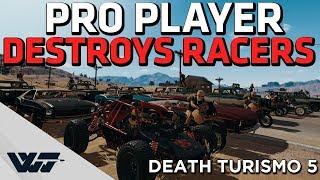 PRO PLAYER DESTROYS RACERS in this crazy PUBG death race