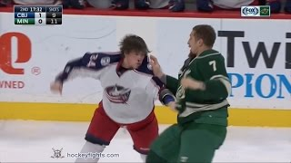 Josh Anderson vs Chris Stewart & Matt Calvert vs Matt Dumba Dec 31, 2016