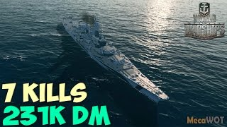 World of WarShips | Montana | 7 KILLS | 231K Damage - Replay Gameplay 1080p 60 fps