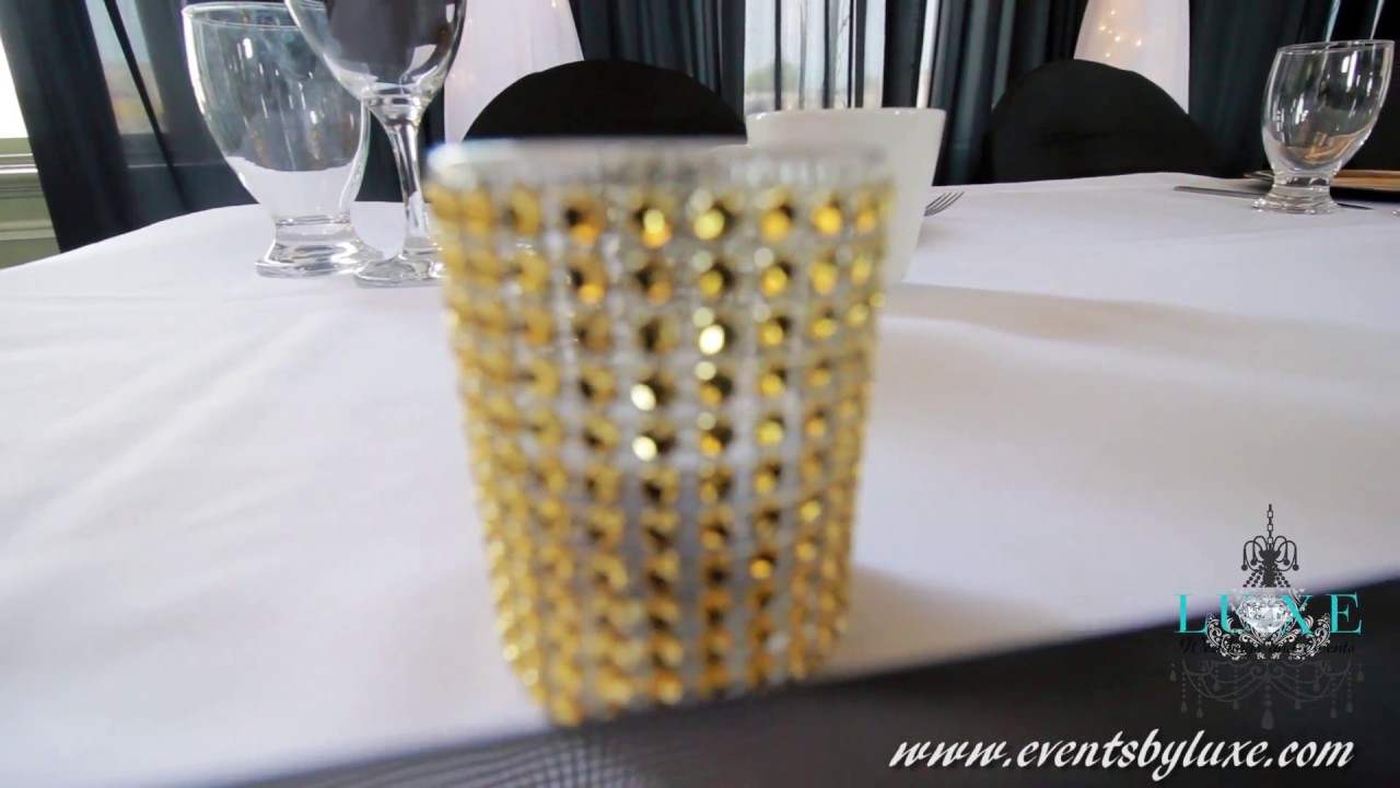 Old Hollywood Wedding Dcor Black White and Gold YouTube