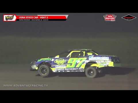 Ironman Stock Car Heats - Rapid Speedway - 8/23/19