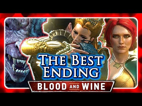 Witcher 3 🌟 BLOOD AND WINE ►THE BEST ENDING - Duchess & Syanna Forgive Each Other, Triss Romance