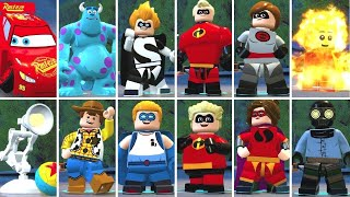 LEGO The Incredibles - All 119 Characters W/ Gameplay (DLC Included)