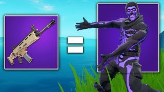 i can only use guns that match my fortnite skins color! - (very hard)