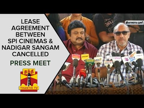 Lease Agreement between SPI cinemas and Nadigar Sangam Cancelled | Press Meet | ThanthI TV