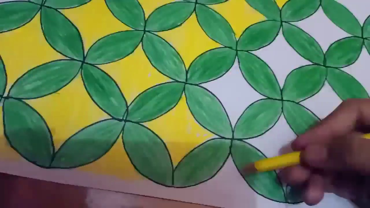 Cara Menggambar Batik Kawung Dijamin Sangat Mudah Youtube