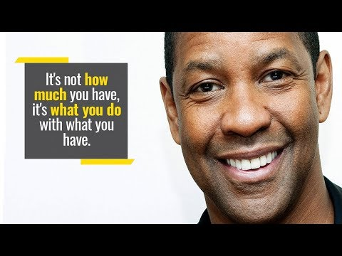 Denzel Washington's Inspiring Speech On How To Use Our Unique Gifts