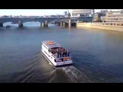 Charlton Fans Sing on a Boat on the Thames