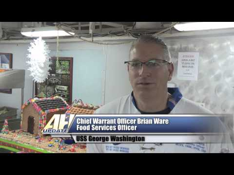 USS George Washington Supply Department Prepares Holiday Meal for Sailors