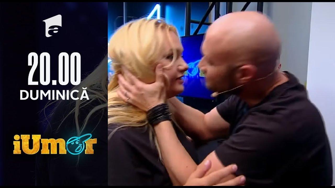 Mihai Bendeac, sărut pătimaș cu blonda glumeață, la iUmor: De azi îi plac grasele!
