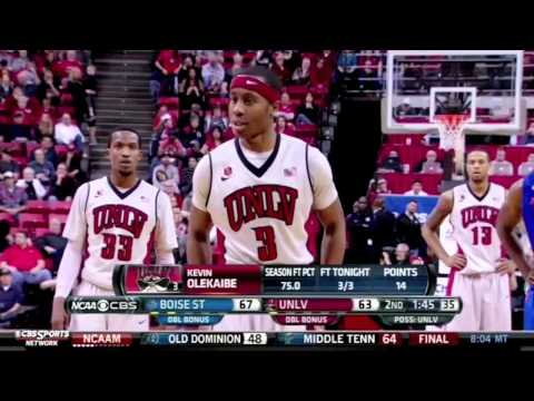 UNLV Comeback Boise State @ UNLV 2/1/14 Mountain West Conference