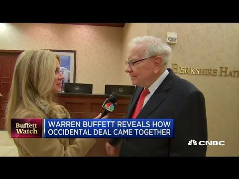 Warren Buffett reveals how the Occidental deal came together