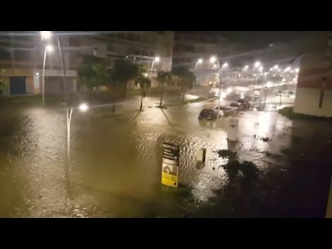 Raw: Hurricane Maria Blasts Guadeloupe