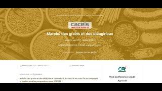 Webinar #4 – Replay Commodities / Marché des grains 2020/21 - Bilan fin de campagne & Perspectives