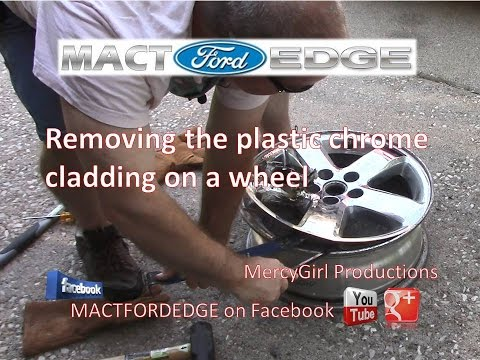 How to remove the Chrome Clad wheel covers