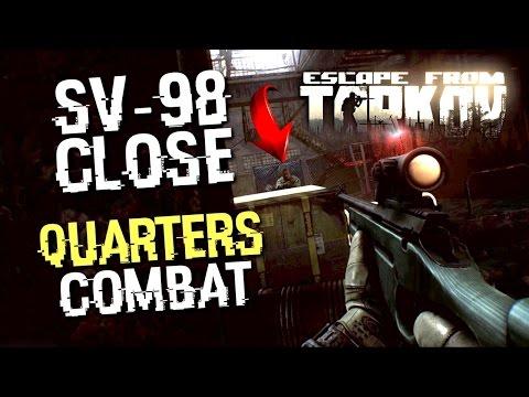 SV-98 SNIPER RIFLE CLOSE QUARTERS COMBAT ( ESCAPE FROM TARKOV ) 60 FPS