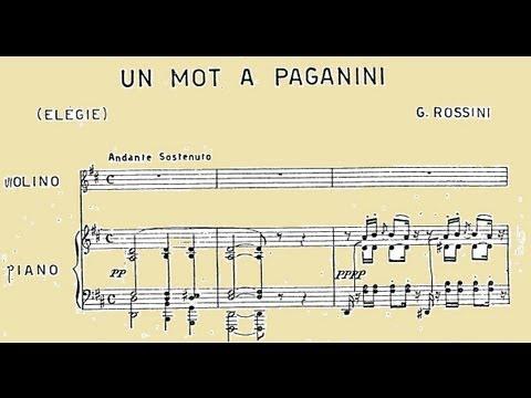 Rossini: Un mot à Paganini, Elégie pour violon et piano - Sergio Lamberto & Riccardo Caramella