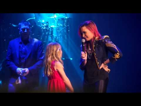 Let It Go- Demi Lovato brings little girl on stage Omaha 3/16/14