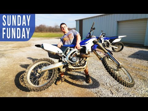 SUNDAY FUNDAY- PULLING DIRTBIKES OUT OF STORAGE & RIPPING