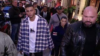 Kourtney Kardashian and BF Younes Bendjima in Paris for the Fashion week