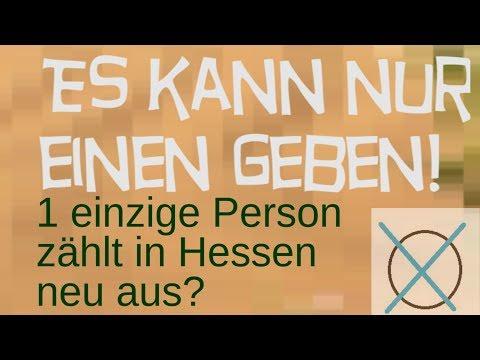 Einzige Person reicht für Neuauszählungen Hessen?