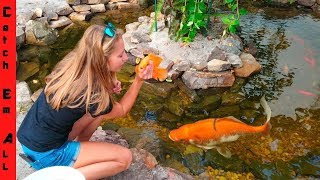 BUILDING FISH POND with NEW GIRL! thumbnail