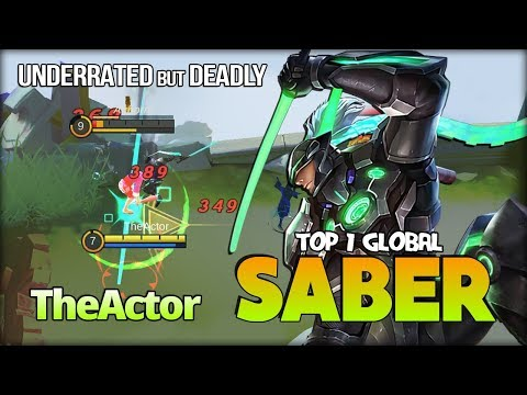 Underrated Assassins? Say it Again! The Actor Top 1 Global Saber - Mobile Legends